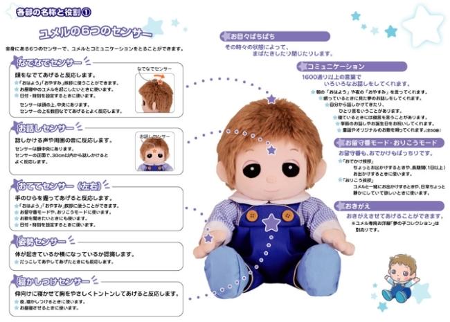 ユメル/YUMEL 夢の子ネルル ネルル ミルル 夢の子コレクション 服 おしゃべり人形 癒し 福祉 リハビリ 介護 おもちゃ 玩具 通販 販売